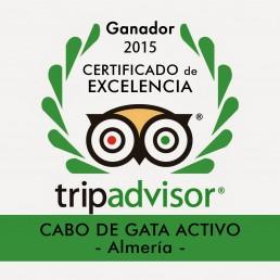 kayak Cabo de Gata Activo galardonado con el Certificado de Excelencia de Tripadvisor 2015