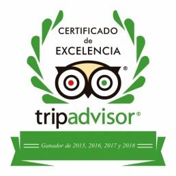 Kayak Cabo de Gata Activo galardonado por cuarto año consecutivo con el Certificado de Excelencia de Tripadvisor
