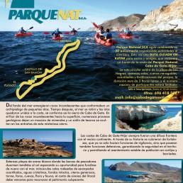 Ruta en kayak Cabo de Gata XX Aniversario Parque Natural SCA