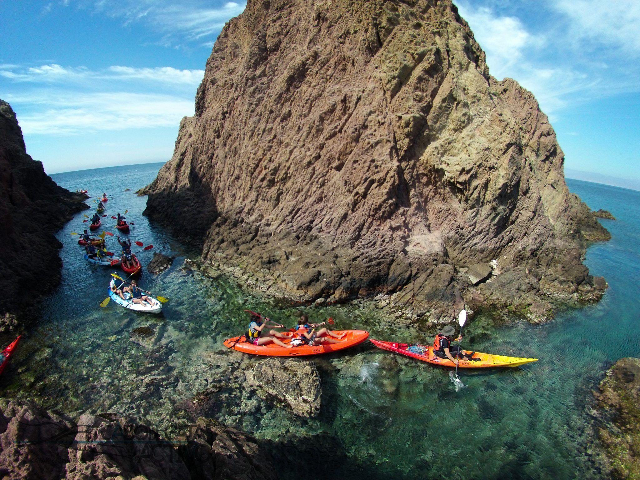 Kayak en Cabo de Gata. Lo mejor de Cabo de Gata