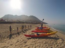 ruta en kayak en Cabo de Gata. 1 - minicurso