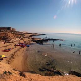Kayak en Cabo de Gata. Mejores playas