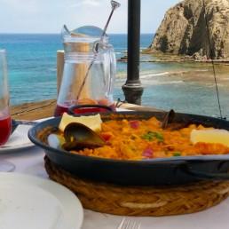 Kayak en Cabo de Gata. Restaurantes